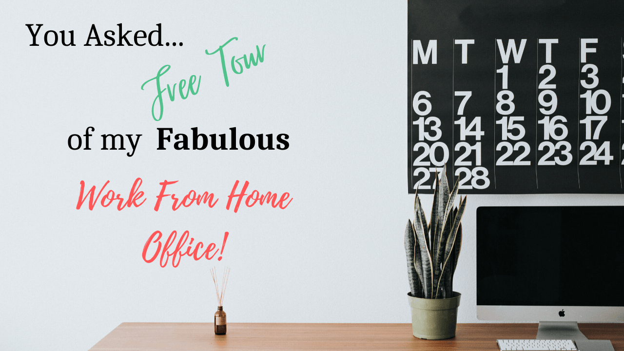 Free Tour, Steal my Fabulous Work from Home Office Setup