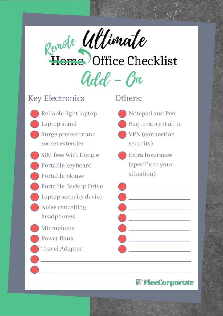 setting up a home office_remote