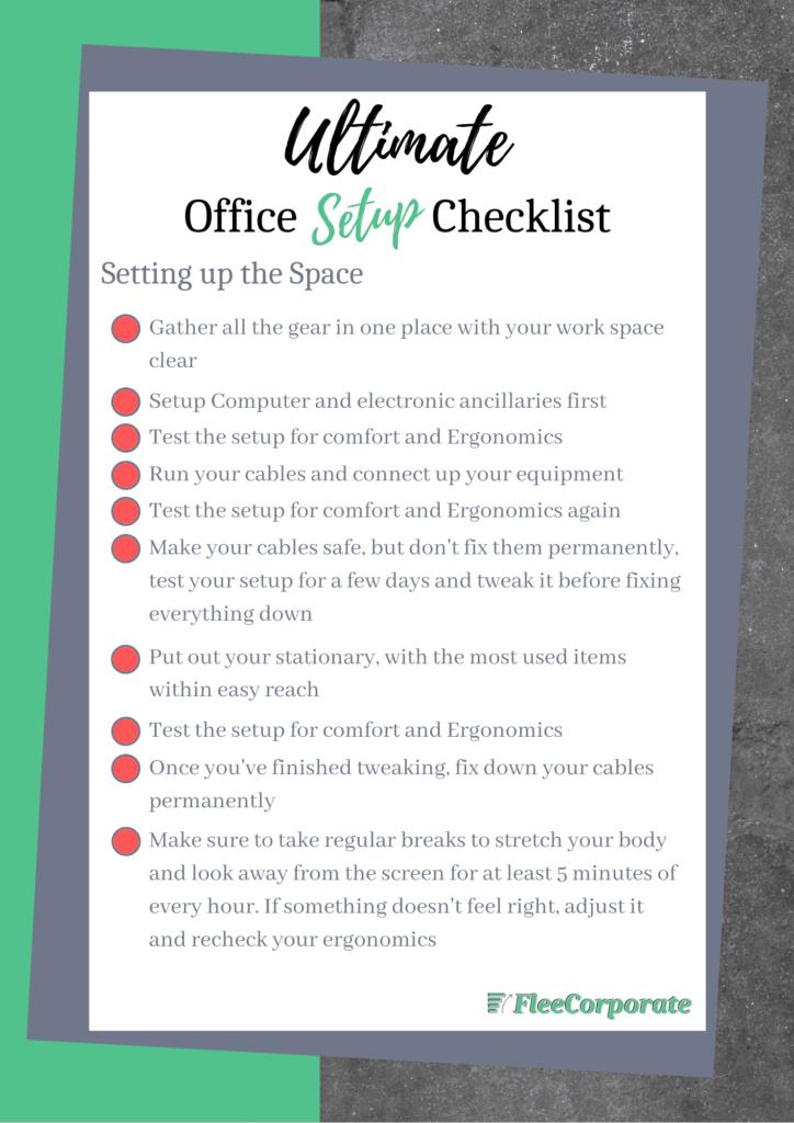 setup a home office checklist